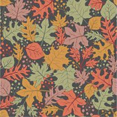 Hand drawn style seamless pattern. Zip contains an AI file with all the leaf grouped seperately within a Clipping Mask (uncrop) for you editing. PDF format also included.