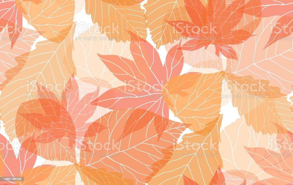 Seamless autumn pattern vector art illustration