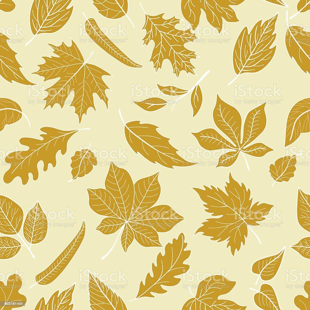 Seamless autumn pattern vector art illustration
