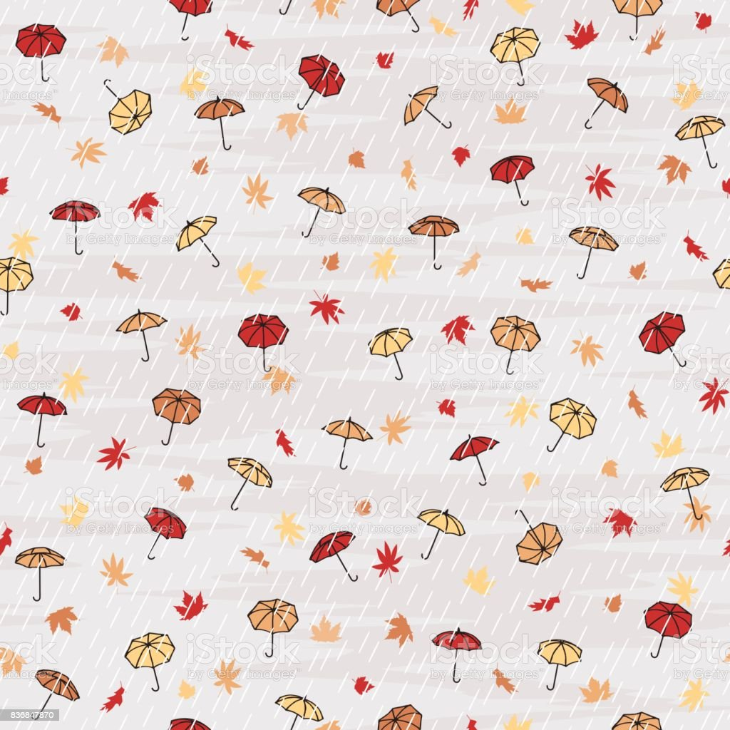 Seamless autumn pattern royalty-free seamless autumn pattern stock vector art & more images of art