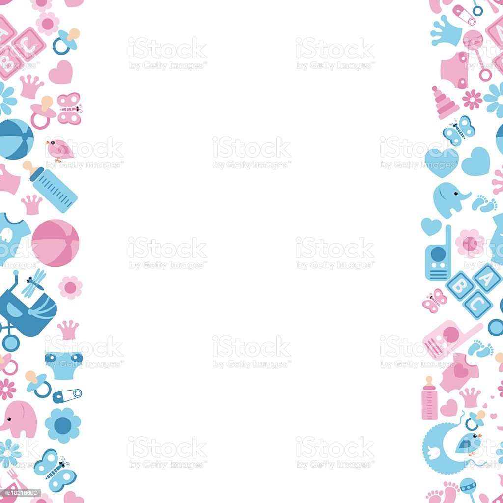 Seamless baby background stock vector art more images of - Baby background ...