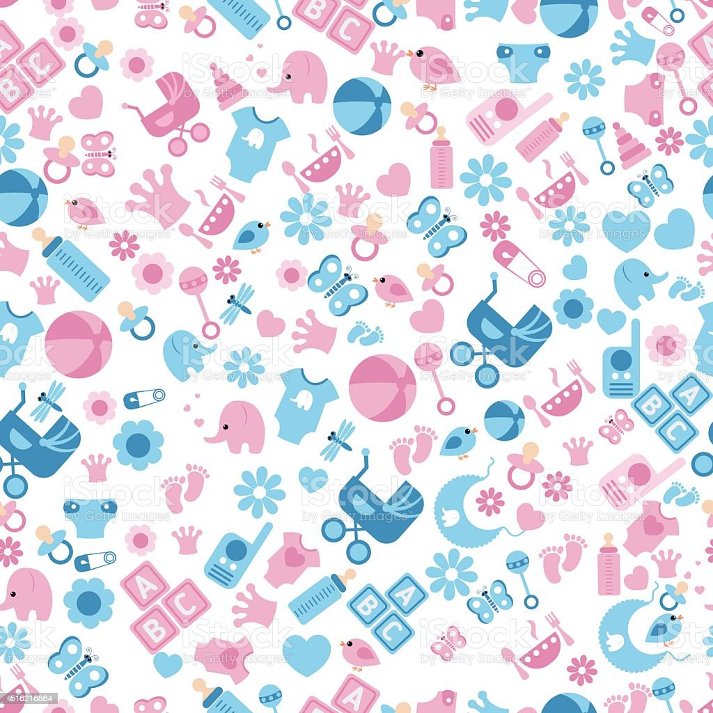 seamless baby background stock vector art amp more images of