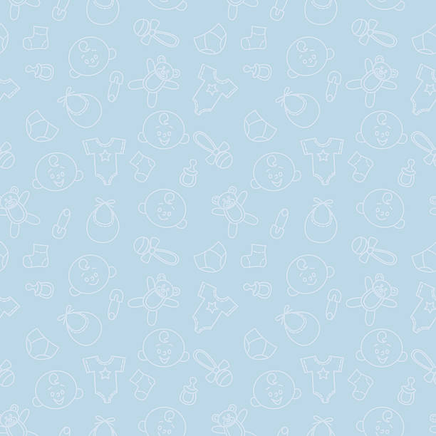 Seamless Baby Pattern vector art illustration