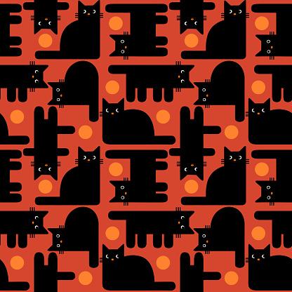 seamless backgound geometric cats
