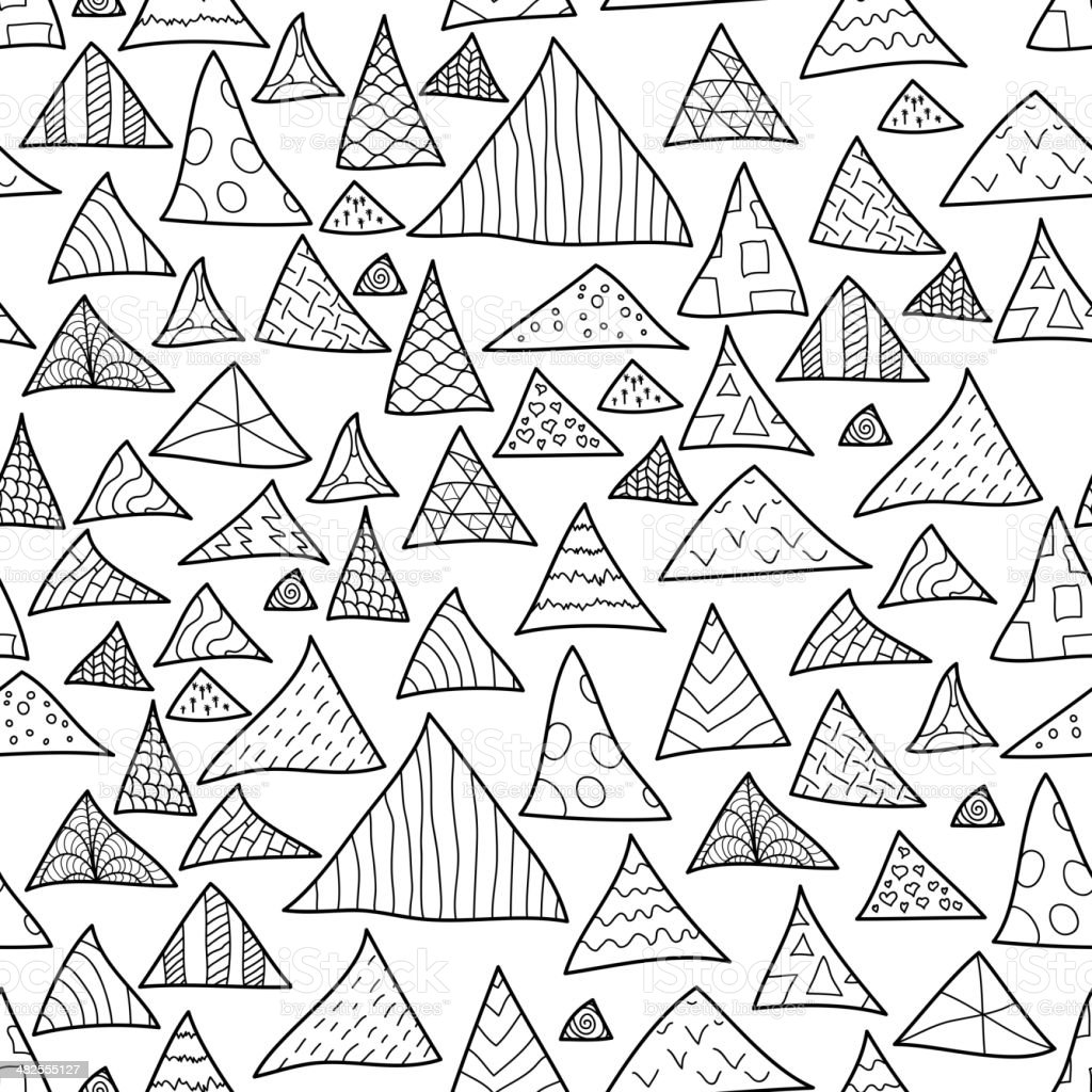 Seamless background, black and white hipster pattern royalty-free stock vector art