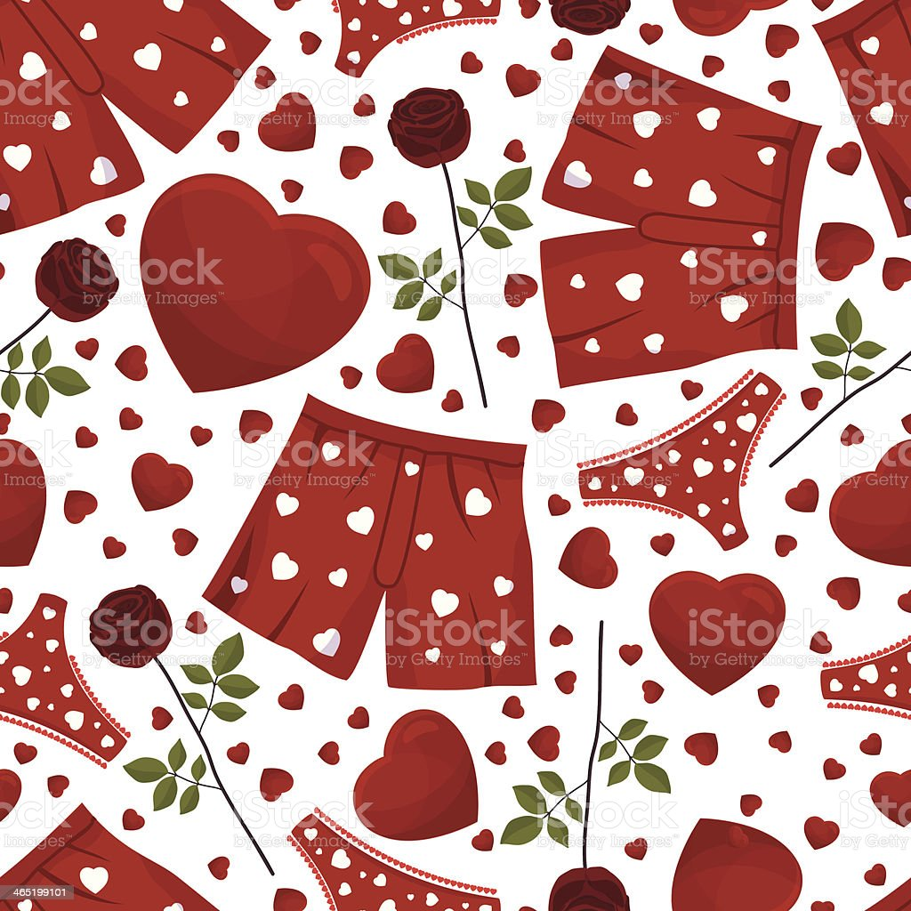 seamless background by St. Valentine's Day. vector art illustration