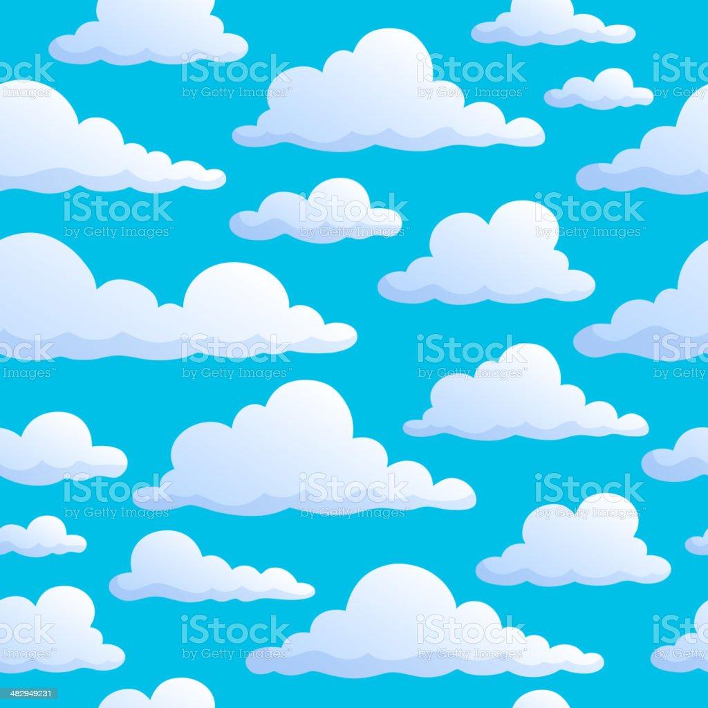 シームレスな背景に空に雲 のイラスト素材 482949231 | istock