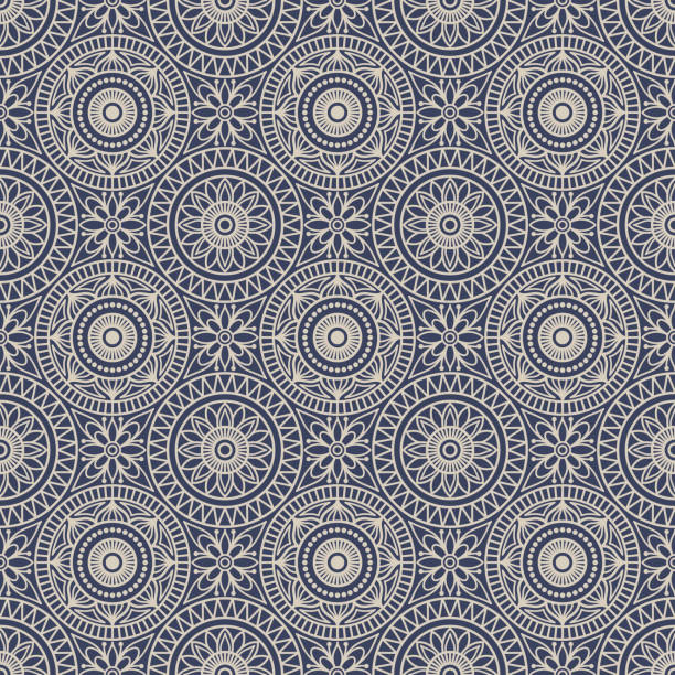 stockillustraties, clipart, cartoons en iconen met naadloze achtergrond oost-stijl. arabisch patroon. mandala sieraad. - oost