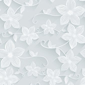 Illustration of Seamless background floral pattern