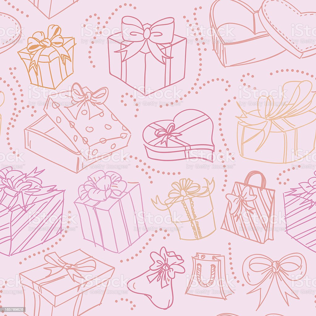 Seamless background - Gift boxes royalty-free stock vector art
