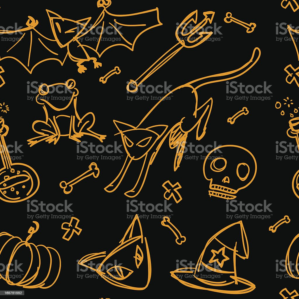 Seamless background - Halloween theme royalty-free stock vector art