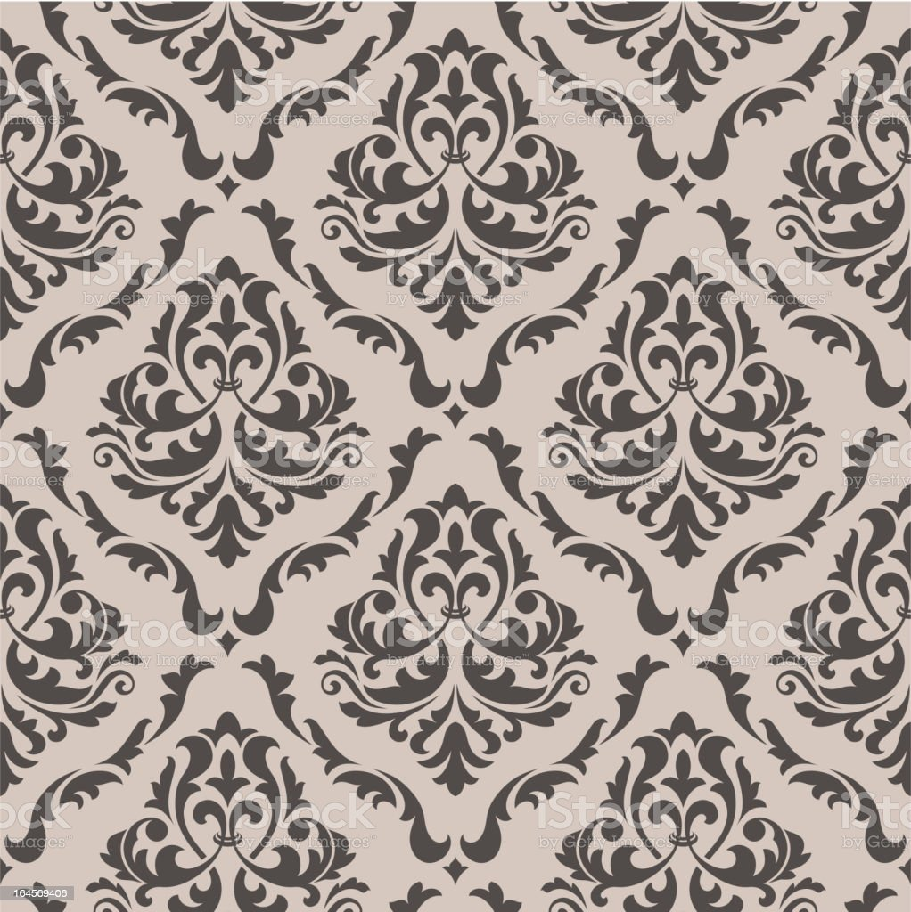 Seamless background in victorian style vector art illustration