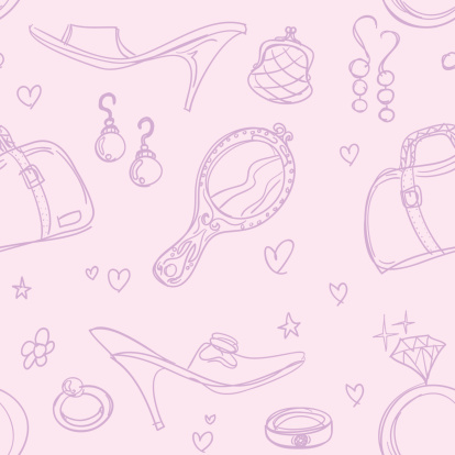 Seamless background - Lady accessories