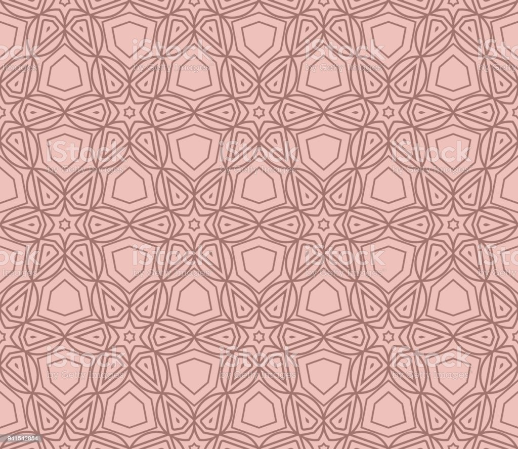 Seamless Background Modern Geometric Ornament . Vector Illustration. For  Fashion, Bed Sheets Or Pillow Pattern   Illustration .