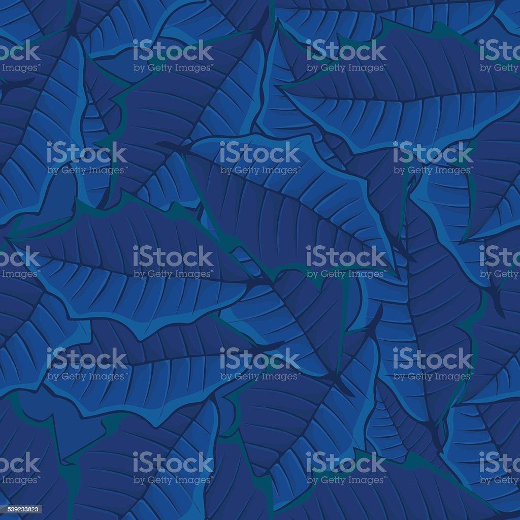 Fundo sem costura padrão de azul leaves.seamless. ilustração de fundo sem costura padrão de azul leavesseamless e mais banco de imagens de 2015 royalty-free