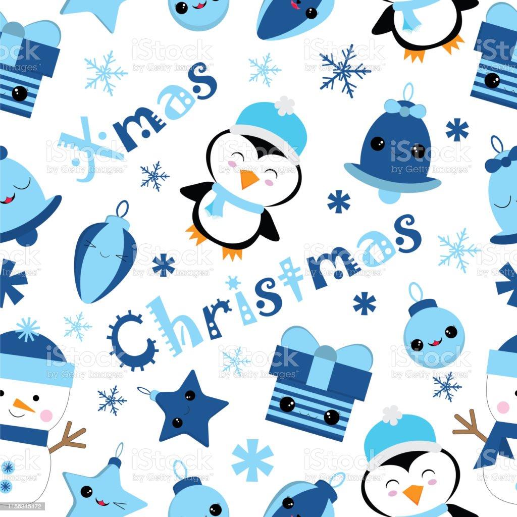 かわいいペンギンベルギフト子供クリスマス壁紙に適した星とクリスマス