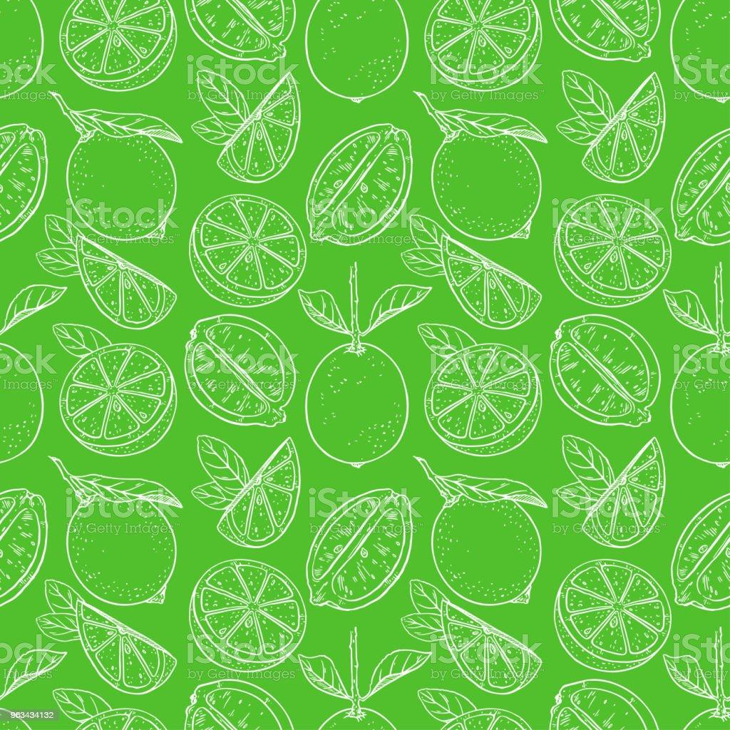 seamless background of lemons - Grafika wektorowa royalty-free (Biały)