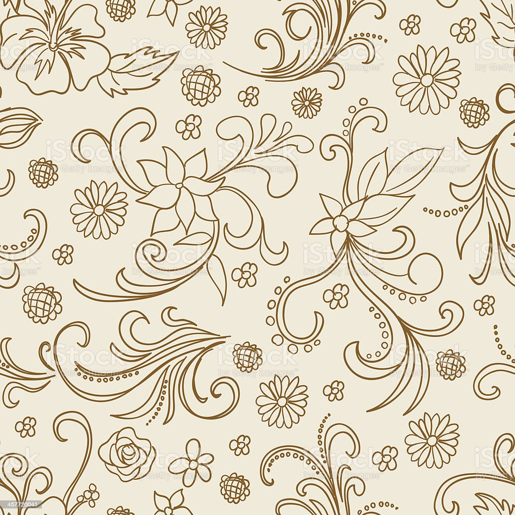 Seamless background - ornate flowers royalty-free seamless background ornate flowers stock vector art & more images of backgrounds