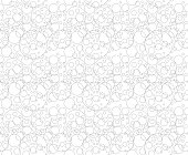 Seamless background pattern - bubbles - wallpaper - vector Illustration