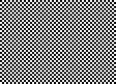 istock Seamless background pattern - Chess board - black and white wallpaper - vector Illustration 1091365726