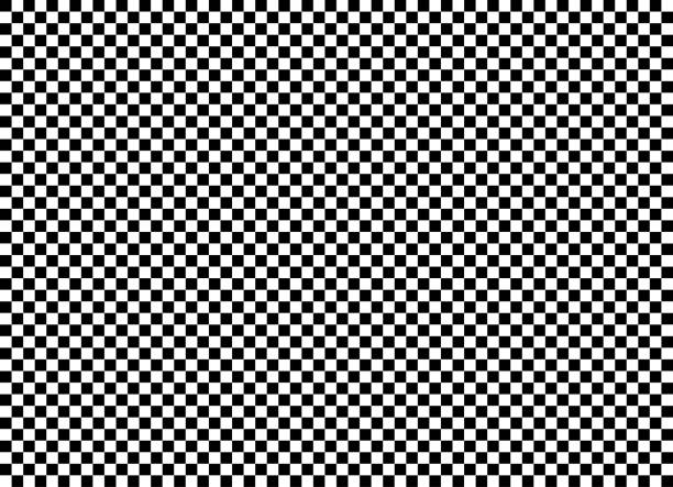 seamless background pattern - chess board - black and white wallpaper - vector illustration - checked pattern stock illustrations
