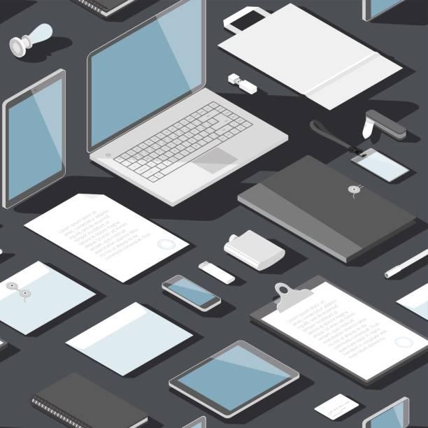 Seamless background pattern for business vector art illustration