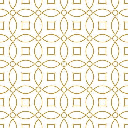 Seamless background pattern - gold wallpaper - vector Illustration