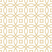 Seamless background pattern - gold wallpaper - vector Illustration
