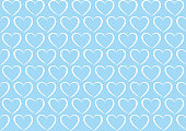 Seamless background pattern - Heart wallpaper blue - vector Illustration