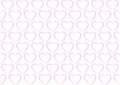 Seamless background pattern - Heart wallpaper pink - vector Illustration