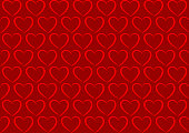 Seamless background pattern - Heart wallpaper red - vector Illustration