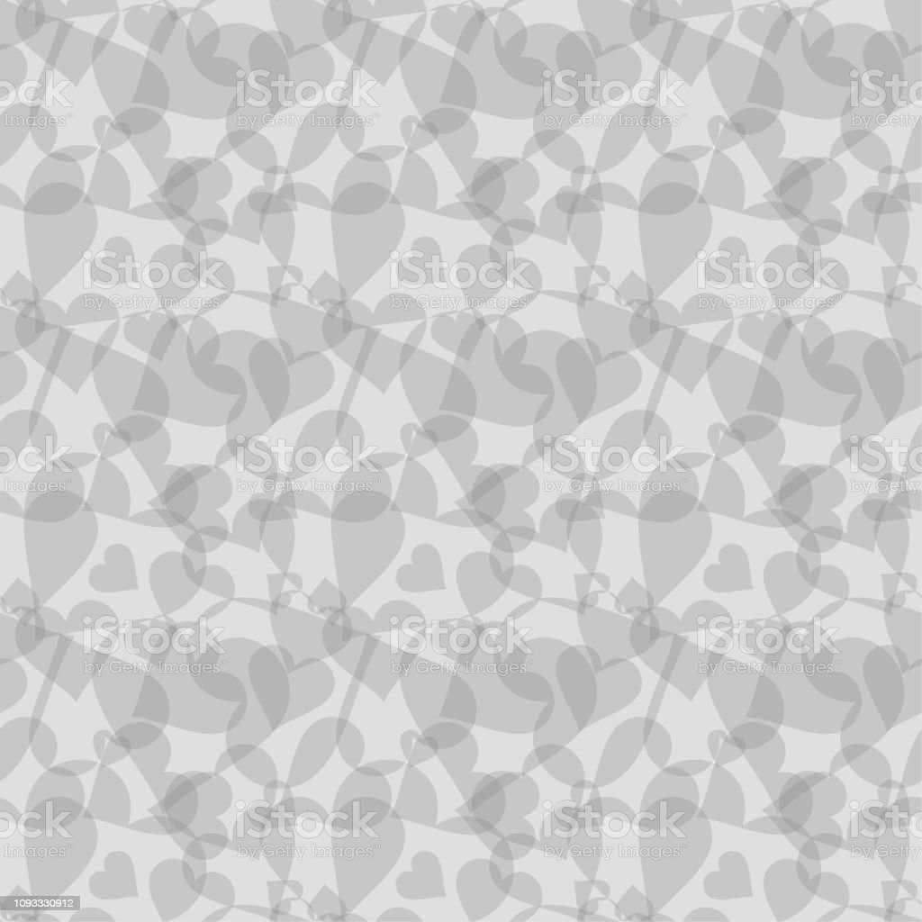 シームレスな背景パターン 心の黒 バレンタイン ベクター イラスト壁紙