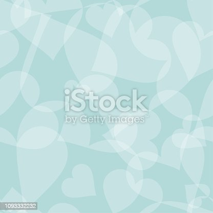 Seamless background pattern - Hearts wallpaper blue - Valentine's day - vector Illustration