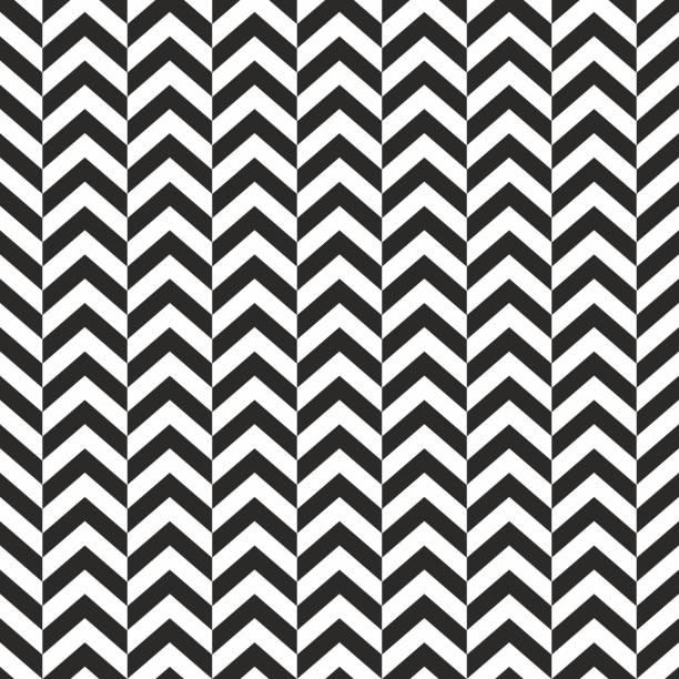 illustrazioni stock, clip art, cartoni animati e icone di tendenza di seamless background pattern - herringbone zigzag - wallpaper - vector illustration - zigzag