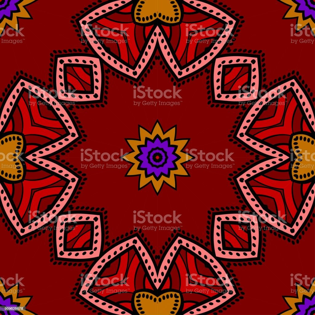 Patrón de fondo transparente en estilo floral geométrico. Ilustración de vector. - arte vectorial de Abstracto libre de derechos