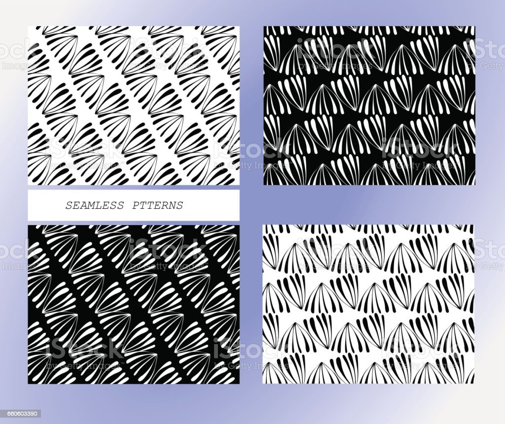 Seamless background pattern in retro style. Wrapping paper, wallpaper, fabric swatch. Black and white vector illustration. royalty-free seamless background pattern in retro style wrapping paper wallpaper fabric swatch black and white vector illustration stock vector art & more images of abstract