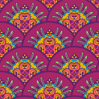 Seamless background pattern like a fish or snake scales. Vector repeat in squama style.