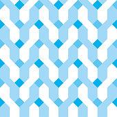 Seamless background pattern - Pigtails - blue wallpaper - vector Illustration