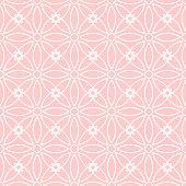 Seamless background pattern - pink wallpaper - vector Illustration
