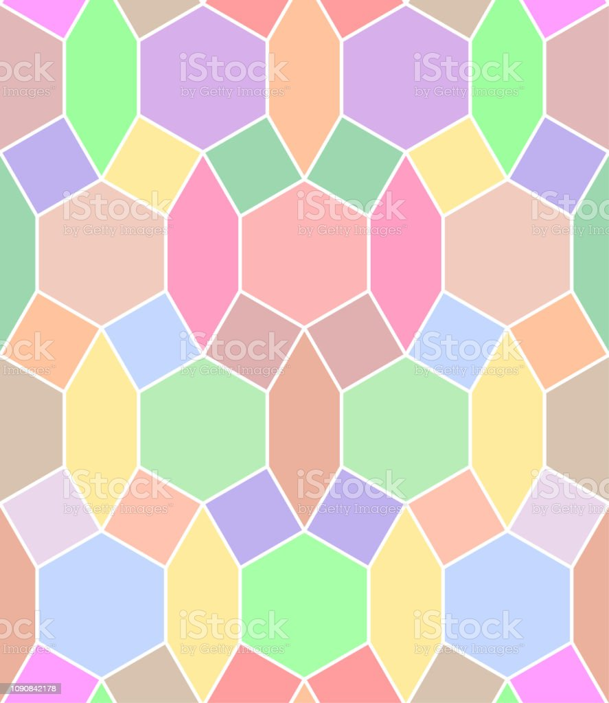 Seamless Background Pattern Stained Glass Multi Colored