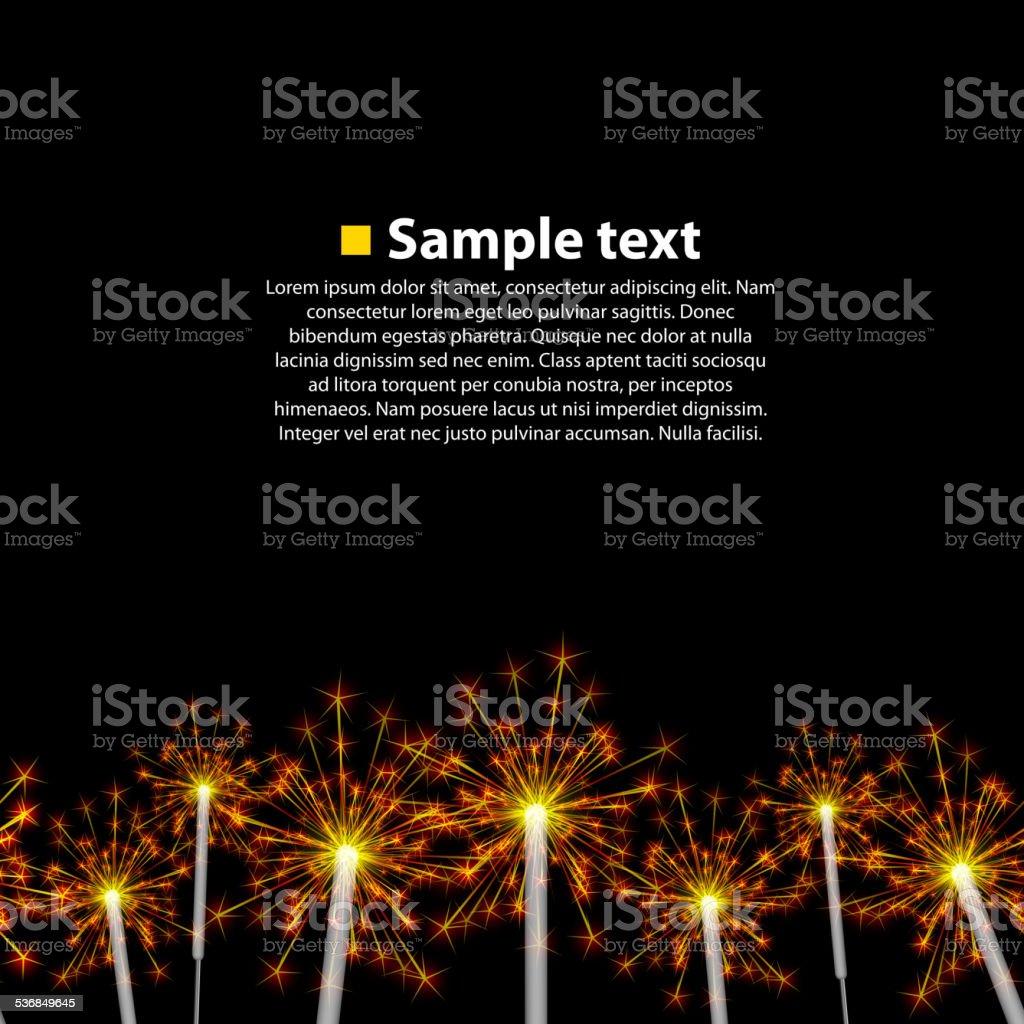 Seamless background sparkler vector art illustration
