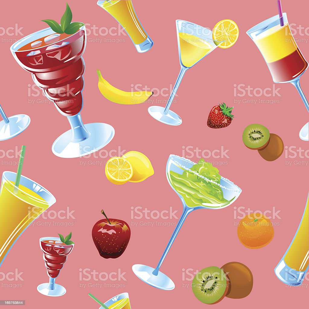 Seamless background - Special drinks royalty-free stock vector art