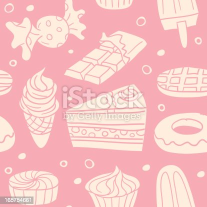 istock Seamless background - Sweet food 165754661