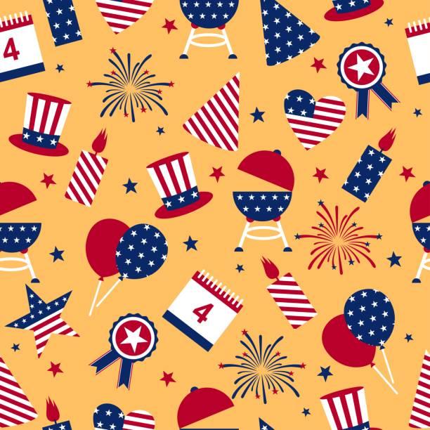 無縫的背景, 以美國的獨立日。 - independence day 幅插畫檔、美工圖案、卡通及圖標