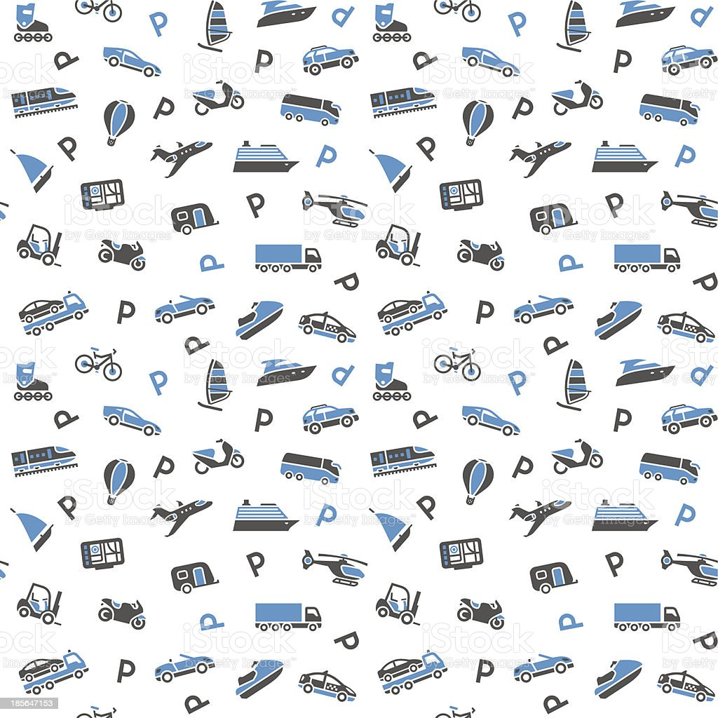 Seamless background, transport icons royalty-free stock vector art