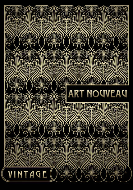 seamless background - art nouveau stock illustrations, clip art, cartoons, & icons