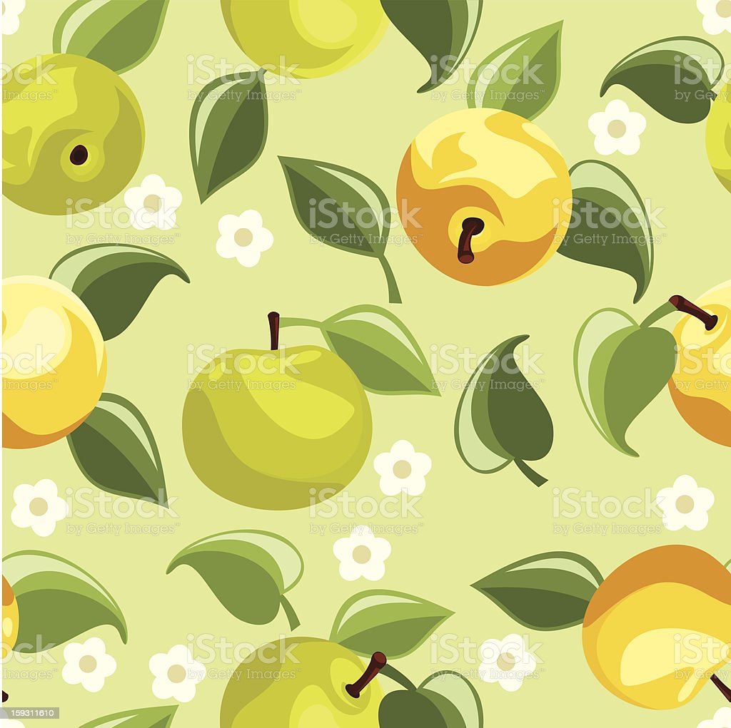Seamless background with apples. Vector illustration. royalty-free stock vector art