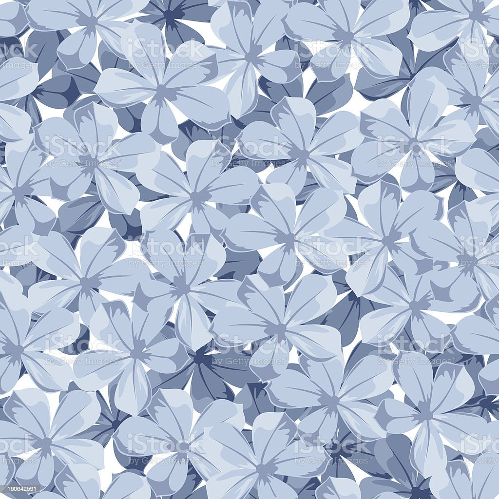 Seamless background with blue flowers. Vector illustration. royalty-free stock vector art