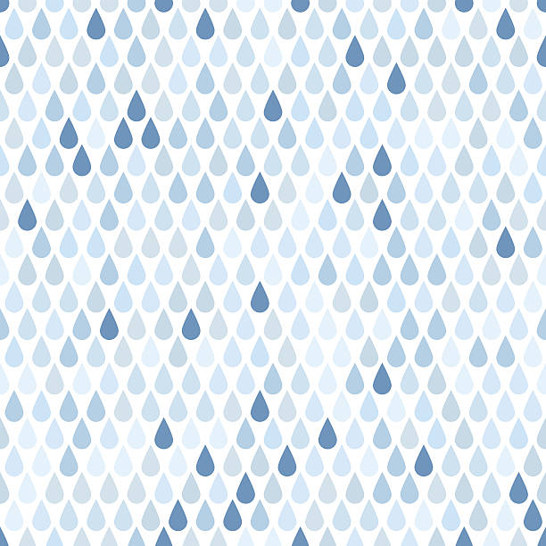 Seamless background with blue rain drops Endless  rain pattern. Vector illustration raindrop stock illustrations