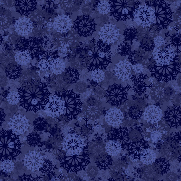 Seamless background with blue snowflakes for Christmas decorations vector art illustration